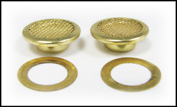 25pc. 15mm Shiny Brass Screened Grommets