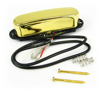 Gold Enclosed Single-Coil Magnetic Pickup