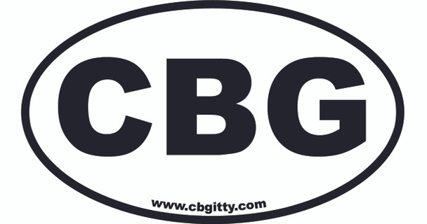 12-pack 3 x 5-inch Vinyl CBG Oval Bumper Stickers