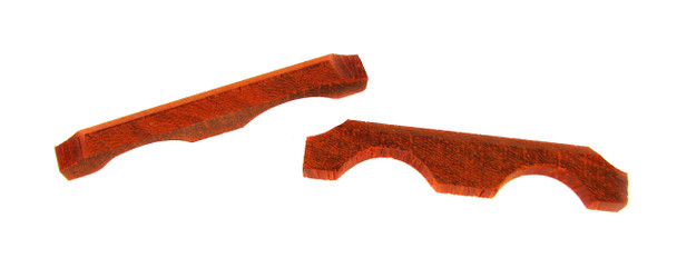 2pc. Exotic Padauk Wood Cigar Box Guitar Bridges