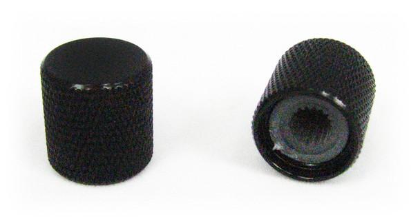 2-pack Black Flat-Top Press-Fit Knobs