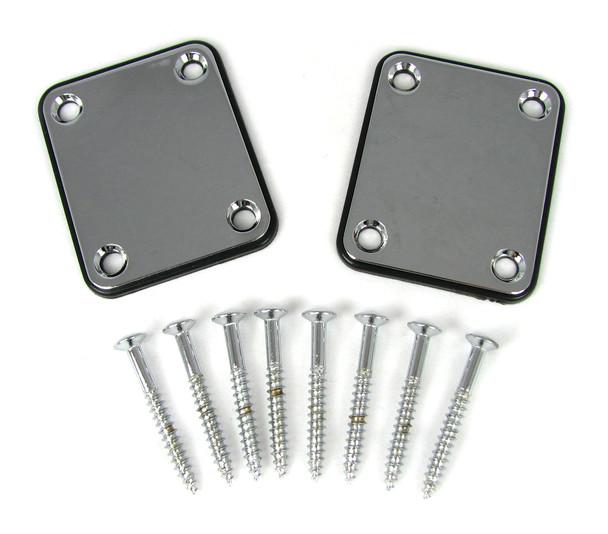 2pc. Chrome Electric Guitar Neck Attachment Plates