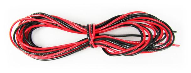 12ft. 24ga. Hook-up Wire: 6ft. Red/6ft. Black