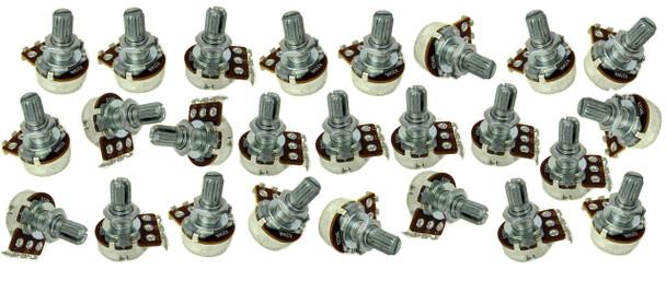 25pc. Standard Short-Shaft 250KOhm Pots
