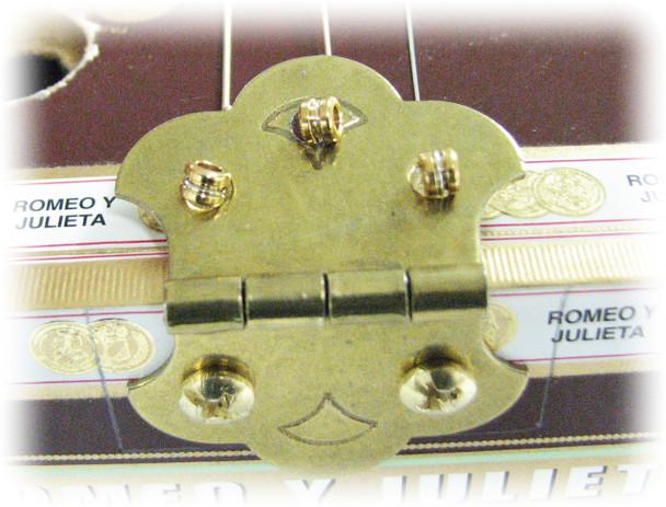 LYWS 10PCS Gold 3-String Roller Saddle Guitar Top Loading Hard-tail Bridge Tailpiece for Cigar Box Guitar Parts