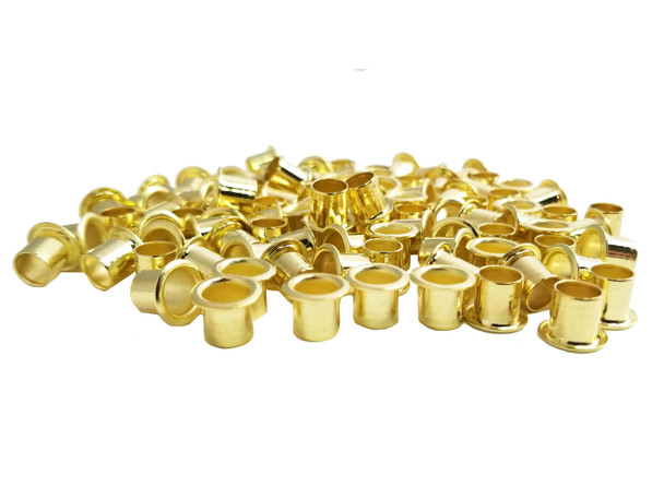 100-pack 1/4-inch Brass Tuner Bushings/Ferrules