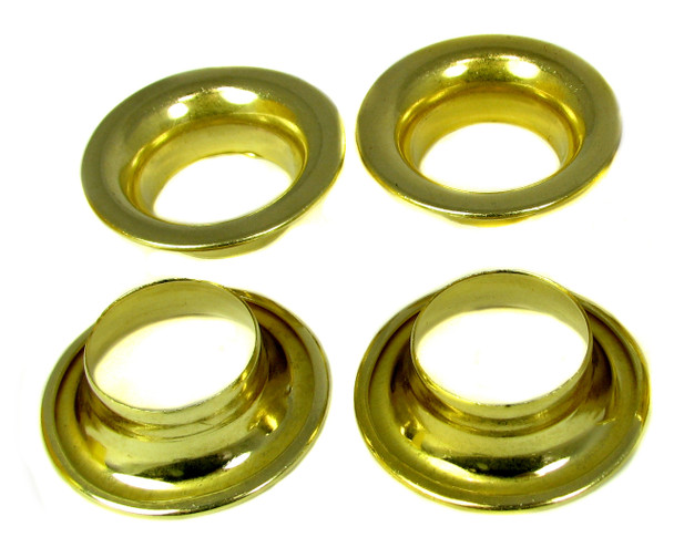 "4pc. #8 Brass Rolled-Rim Grommets - 1 7/8"" Outside Diam."