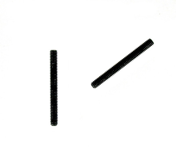 "2pc. CBG Nuts - Black Steel Threaded Rod - 8-32 (.164"") x 1 1/2"""