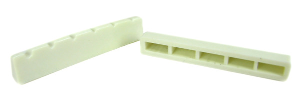8pc. White Plastic 6-String Guitar Nuts