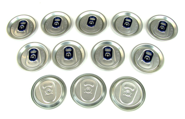 12pc. Aluminum Can Top Sound Hole Covers