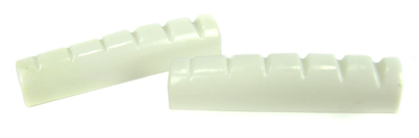 2pc. White Plastic 6-String Guitar Nuts
