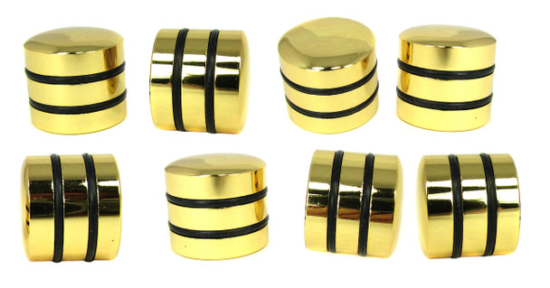 8-pack Gold Dome Knobs with Speed Rings