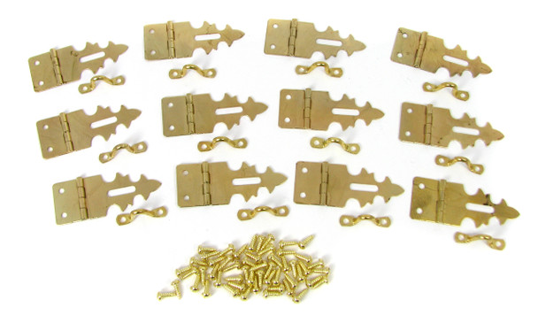 12pc. Brass-plated Box Latches