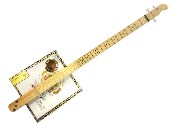 """Pure and Simple"" Slide Cigar Box Guitar: Flying Bridge Model #1"
