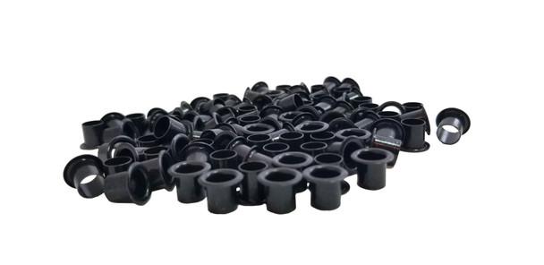 100-pack 1/4-inch Black Tuner Bushings/Ferrules