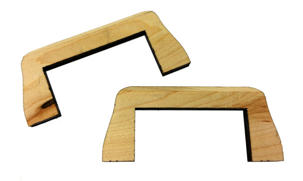 "2pc. Hard Maple ""Flying Bridge"" Bridges for Cigar Box Guitar"