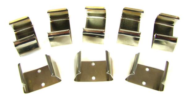 8pc. Metal 9-Volt Battery Clips