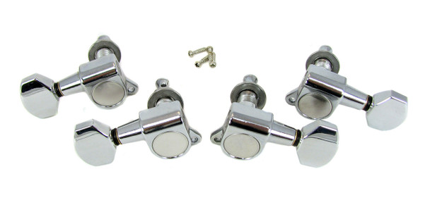 Chrome Sealed-Gear Tuners for 4-String - 2 Right 2 Left