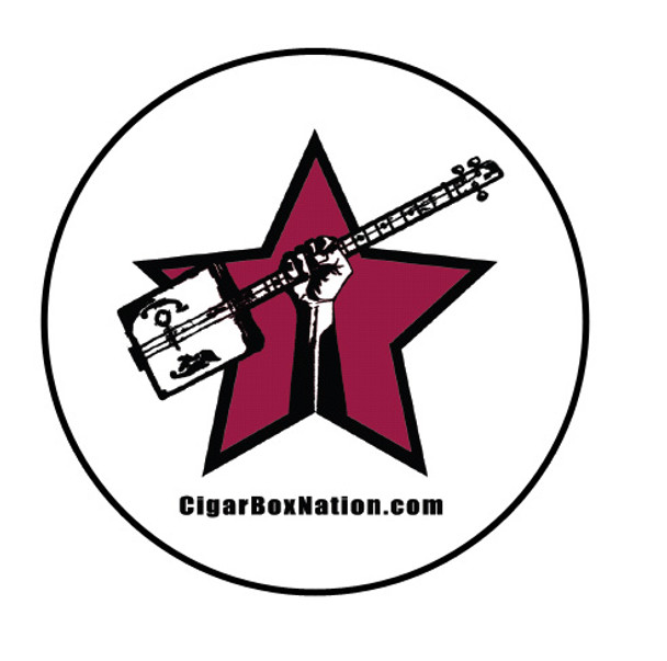 3-inch Round Cigar Box Nation Vinyl Bumper Sticker