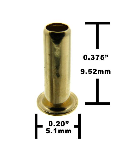 25pc. Long-shank Brass Eyelets/Economy String Ferrules