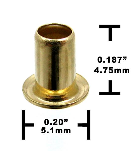 25pc. Short-shank Brass Eyelets/Economy String Ferrules