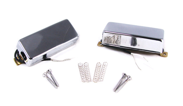 "Chrome ""Snake Oil"" Mini Humbucking Pickups by Foundry-Tone"