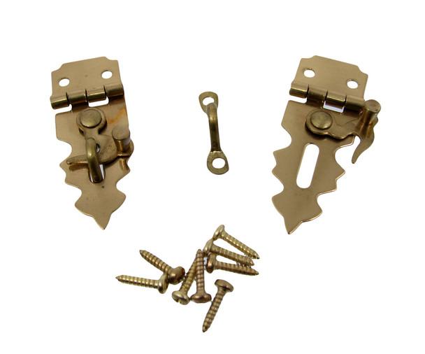2pc. Brass-plated Locking Box Clasps