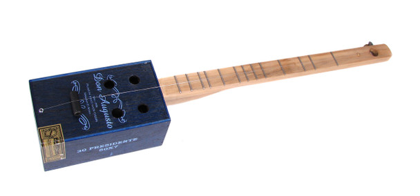 """Little Boy Blue"" One-String Cigar Box Guitar/Diddley Bow"