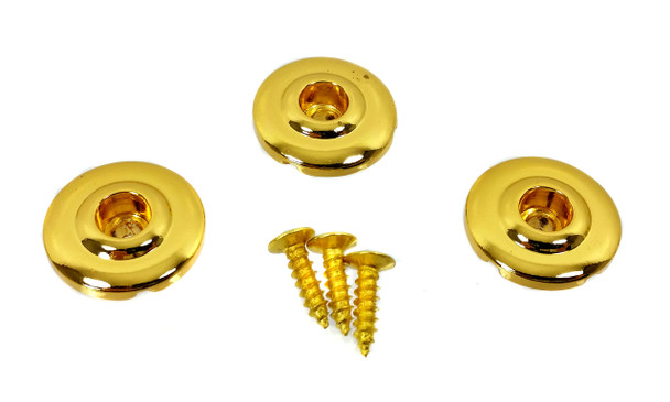 """3pc. Gold """"Disk-style"""" String Retainers"""