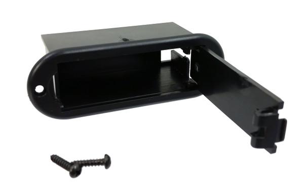 2pc. Black Plastic External-mount 9V Battery Trays (Style 2)