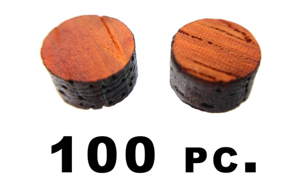"100pc. 1/4"" Hardwood Fret Marker Inlay Dots - Choose Your Favorite Wood Type"