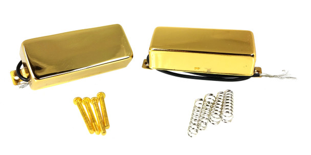 "Gold ""Snake Oil"" Mini Humbucking Pickups (Pair) by Foundry-Tone"