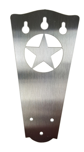 """3-string Stainless """"Lone Star"""" Tailpiece for Cigar Box Guitars"""
