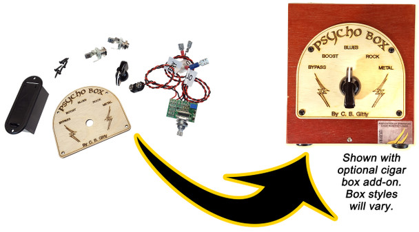 """The """"Psycho Box"""" Standalone Distortion/Overdrive Pedal Parts Kit"""