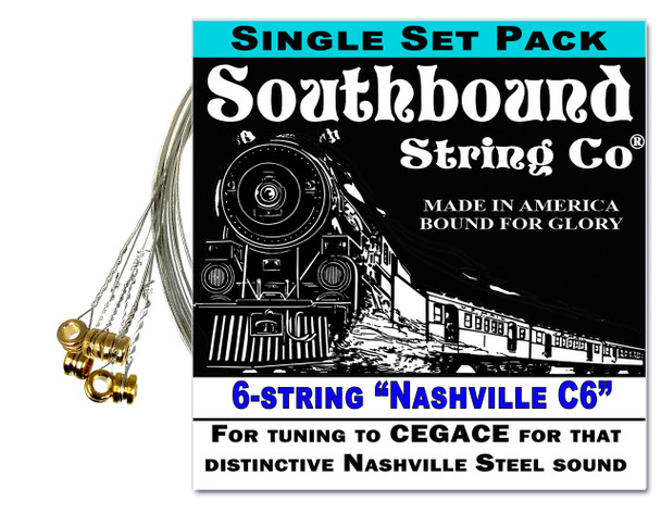 """Nashville C6"" 6-string Lap Steel Guitar String Set - Get that honky tonk sound!"