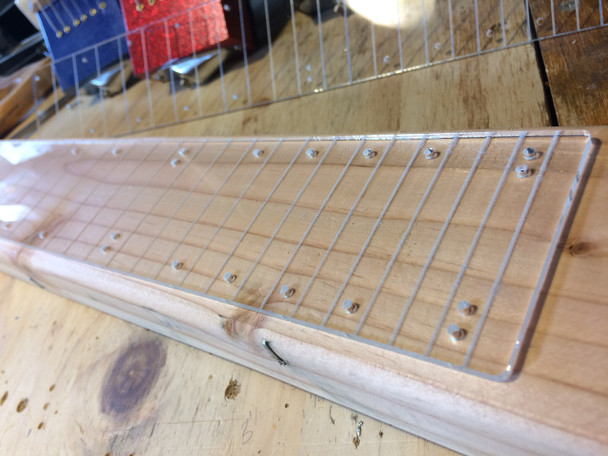 Clear Acrylic Fretboard for 2x4 Lap Steels