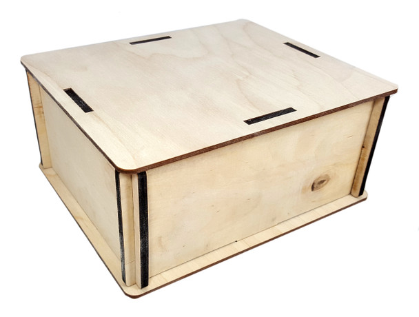 """Amp-size DIY Wooden Box Enclosure Kit - 6"""" x 7"""" x 3.25"""" - Easy to Assemble"""