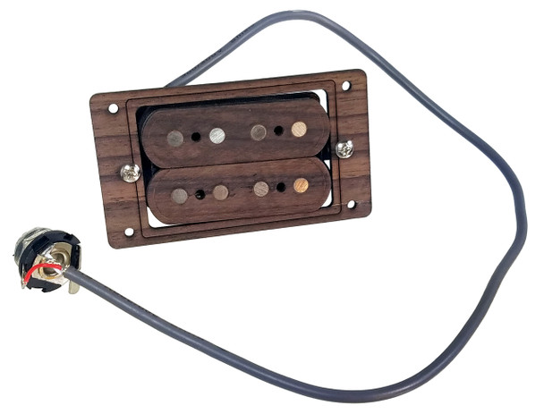 """DeltaBucker"" 4-string Rosewood Cigar Box Guitar Humbucker Pickup pre-wired with Jack - No Soldering!"