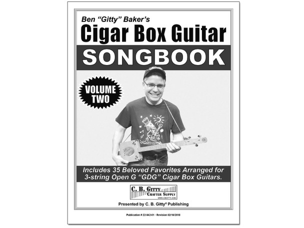 Ben Gitty's 3-string Cigar Box Guitar Songbook - Volume 2 - 35 more beloved songs (Printed Version)