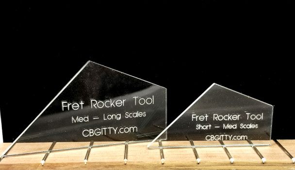 2pc. Laser-cut Acrylic Fret Rockers - The easy way to check your frets!
