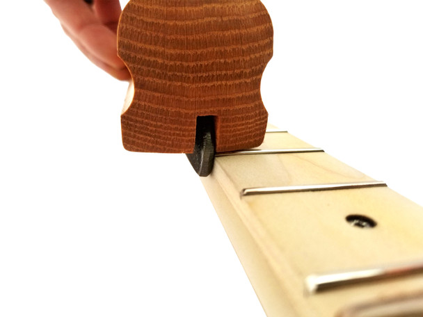 90-degree Fret End Flush File: 7 3/4-inch Red Oak Handle
