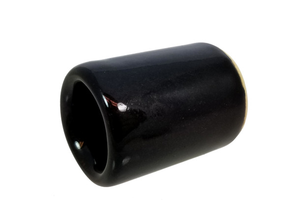 "Glossy Black Ceramic Guitar Slide - 1 3/4"" Length - handcrafted by Janis Wilson Hughes"