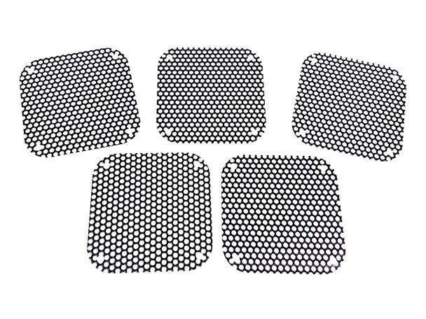 5pc. Black Perforated Metal Covers for 3-inch Amp Speakers