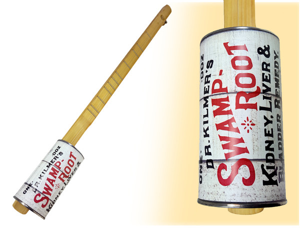 """""""Swamp Root"""" One-String Acoustic Canjo by the American Canjo Company"""
