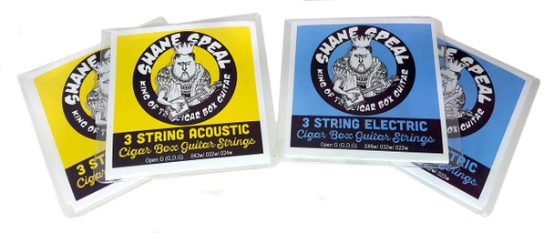 Shane Speal Signature 3-string Cigar Box Guitar String Sets