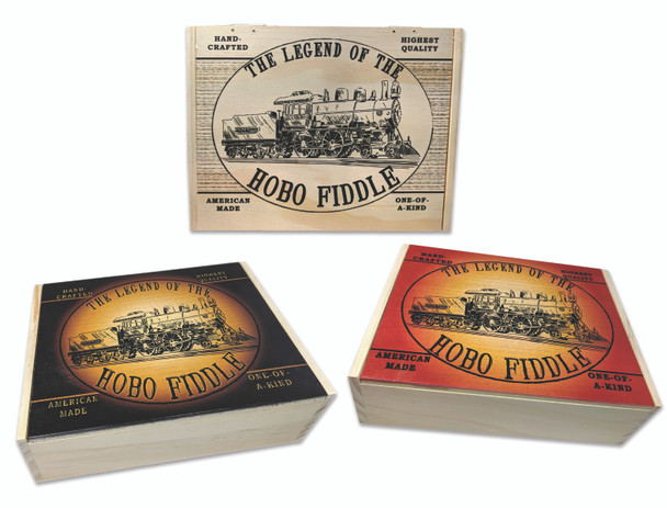 """""""Legend of the Hobo Fiddle"""" Printed Wooden Cigar Box"""