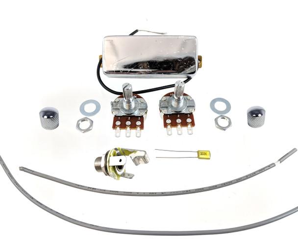 """Snake Oil"" Mini Humbucker DIY Pickup Harness Wiring Kit - choose your color!"