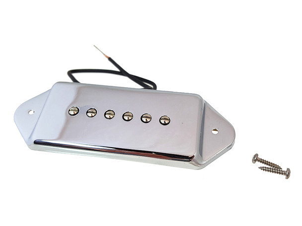"Chrome ""Dog Ear"" Soapbar 6-string Pickup"