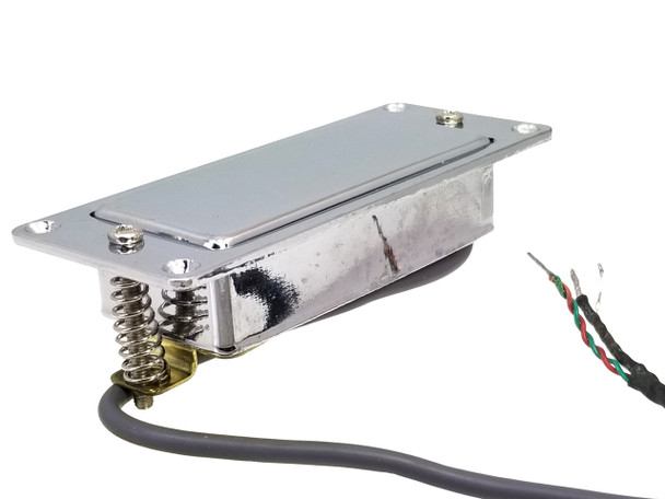 Chrome Mini Humbucker Assembly with Mounting Ring - Easy to Install!
