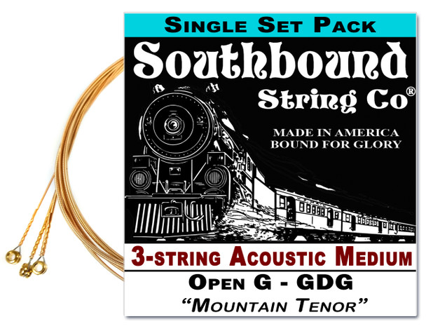 """Mountain Tenor"" GDG String Set for 23"" Scale 3-string  Acoustic Cigar Box Guitars"